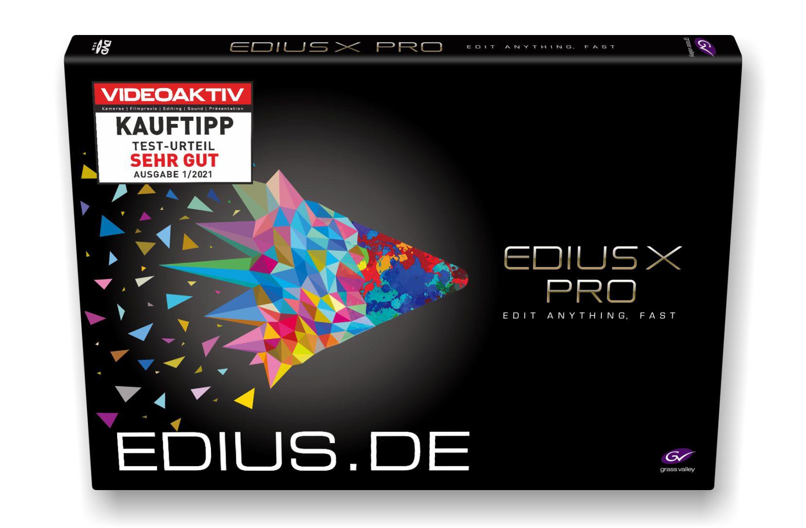 EDIUS X Pro Testsieger